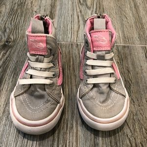 Cutest Pink and Gray Toddler Hightop Vans